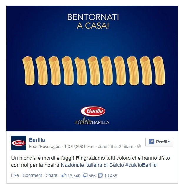 Barilla newsjacking
